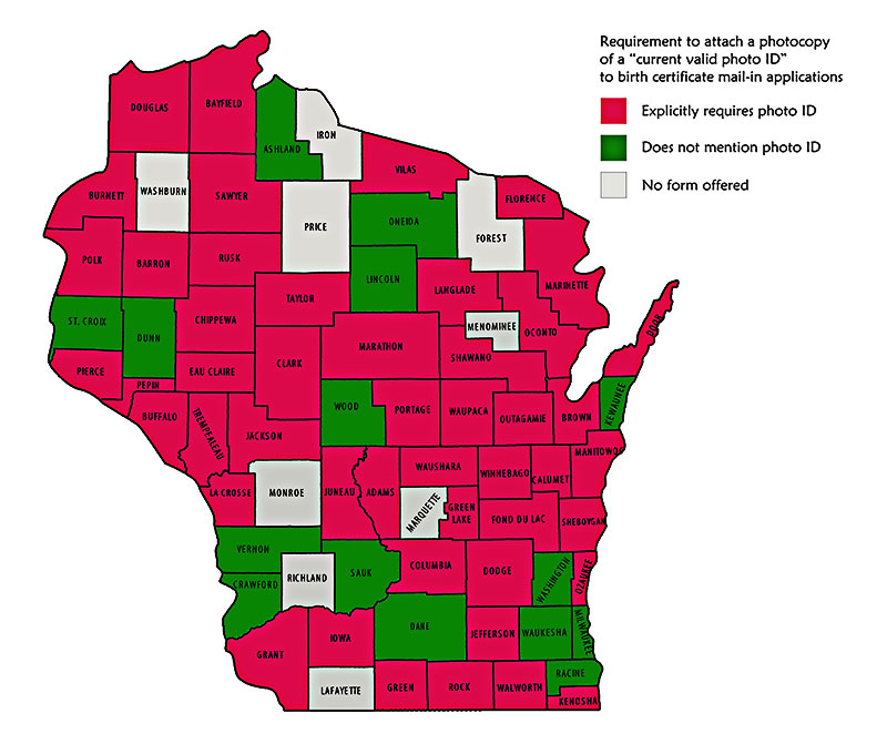 Wisconsin County Map Diplays Widespread Potential Voter Confusion